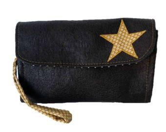 Wallet or clutch bag faux leather