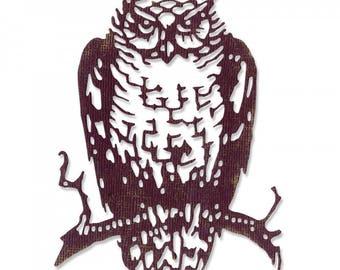 """Sizzix Thinlits Tim Holtz Dies Set - ORNATE OWL 662380 1 pc 3 3/8 x 4 3/4"""" 1.cc56"""