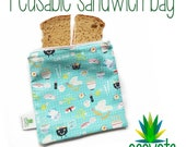 Reusable Snack and Sandwich Bags// Eco-Friendly // Washable // Food Bag // Lunch Bag // Custom made to order