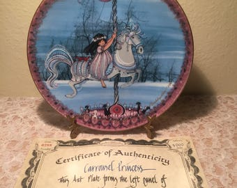 Carrousel Princess Collectible Plate By Anna Perenna