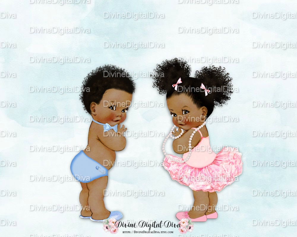 Vintage Baby Boy Lt Blue Bow Tie Amp Girl Ballerina Pink Tutu