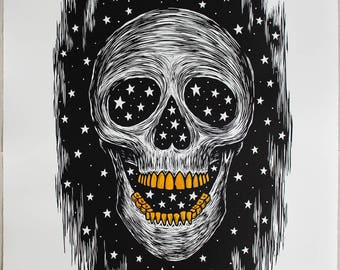 Inside Out There -  Hand painted Artist Proof (Gold Teeth)