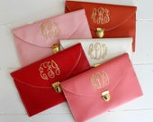 Clutch Purse with Detachable Chain Monogram Gifts SALE Mothers Day Gift Spring Style Monogram Bags Under 30 Dollars
