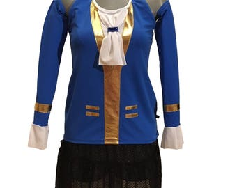 Beast Inspired Beauty and Beast Running Costume shirt and skirt OPTIONAL Beast Arm Sleeves