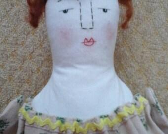 handmade cloth rag art doll