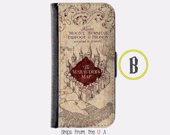 iPhone 8 Case - iPhone 8 Wallet Case - iphone 8 - iPhone 7 Wallet - Harry Potter iphone 8 case - Marauder Map iphone 8 case