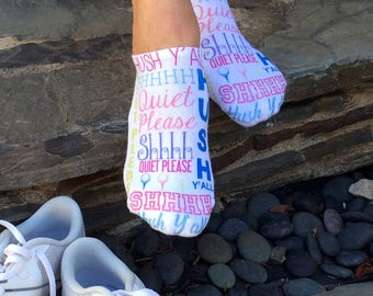 Ladies Full-Print Golf Socks - Several Designs Available - White Cotton Socks Sold by the Pair