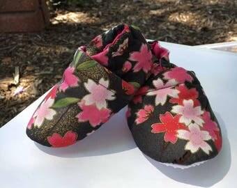 Sakura cherry-blossom booties