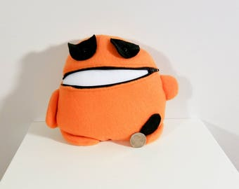 Orange and Black Tooth Fairy Pillow- Pocket Monster- Colorful Monster Plush