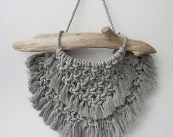 Adella - Ready to ship - Macrame Wall Hanging - Boho Tapestry - Driftwood