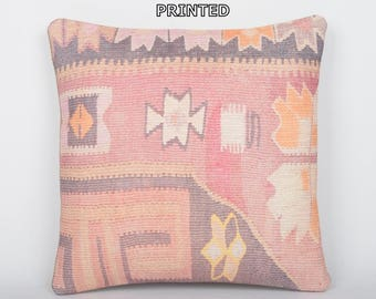kilim pillow 16x16 primitive decoration throw pillow cover accent pillow sham outdoor pillow couch throw pillow bohemian pillow case 101-40