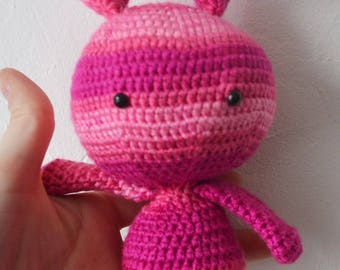 Amigurumi Doudou rabbit with crochet hook