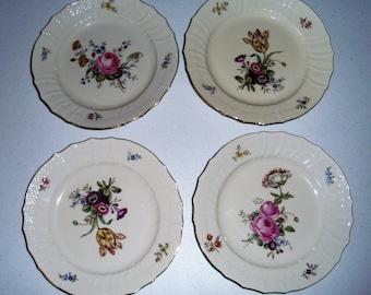 Royal Copenhagen Denmark Frijsenborg Four Luncheon Plates