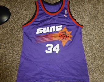 Vtg Charles Barkley Phoenix Suns NBA Champion Jersey Sz Men's 44 L