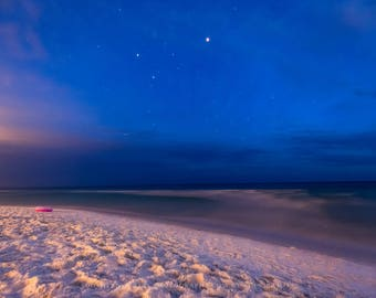 30A Beach Art At Night Ocean Sky Stars Over