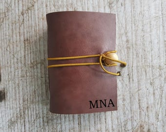 genuine leather small notebook, personalized engraved leather journal, leather diary, leather journal, engraved diary, personalized journal
