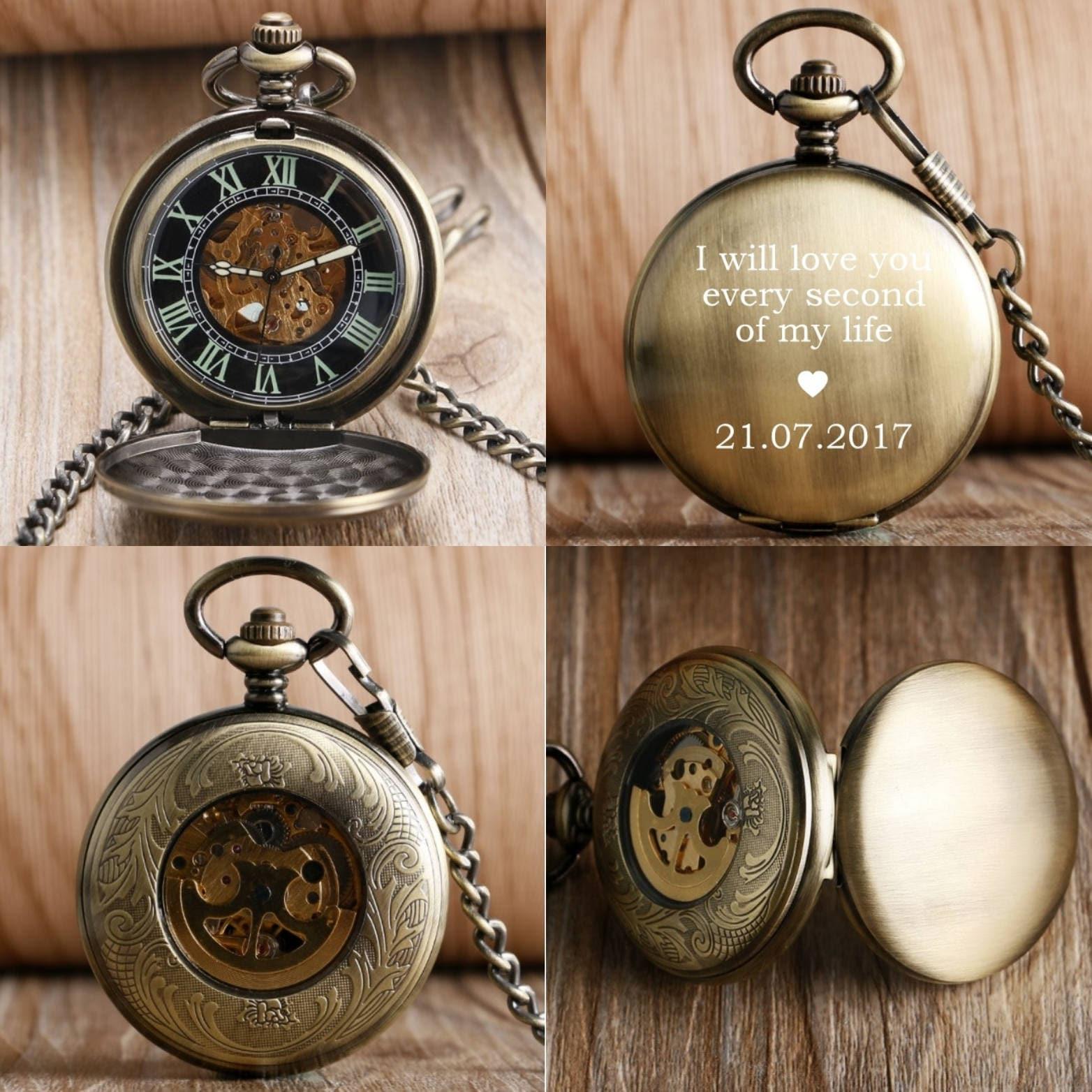 Engraved pocket watch groomsmen groomsmen gift groomsmen for Watches engraved