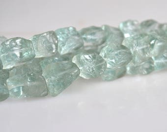 Blue Quartz Natural Rough Nugget Shape Size Approx. 15-16mm Full Strand 16""
