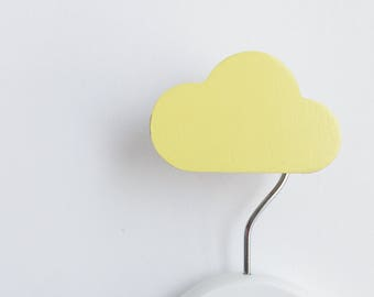 Wall Hook Cloud Lemon, Kids Wall Hook, Kids Hooks, Kids Room Decor, Wooden Wall Hooks, Wall Hooks for Kids