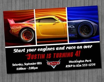 ON SALE Cars 3 Birthday Party Invitation