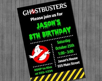 FLASH SALE Ghostbusters Party Invitations