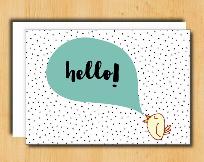 Hello Card | Card for Friend | Card for Long Distance | Long Distance Relationship