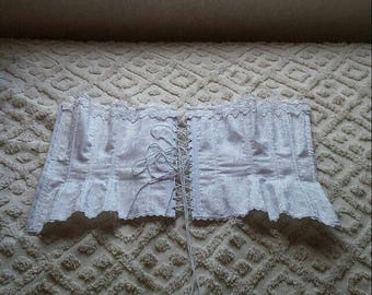 ON SALE White corset Size 32 Xs-small
