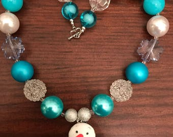 Olaf from Frozen inspired Bubble Gum Necklace (Child/Toddler)