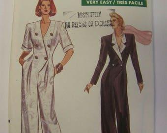 RARE Uncut 1980s VOGUE 7542 Tuxedo JUMPSUIT Pattern sz 12-14-16