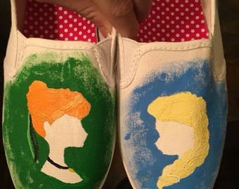 Frozen inspired shoes