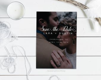 Personalized Save the Date, Wedding Invitation, Printable Save the Date Sign, Mark your Calendar, Postcard Photo Save the Date, sd004