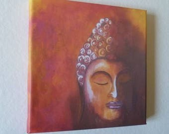 Buddha art print on canvas/wooden frame