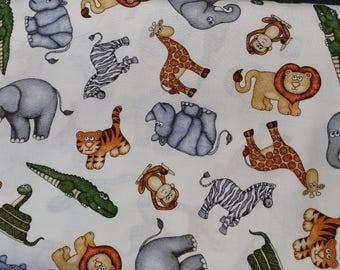 Jungle buddies allover animal print