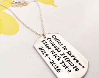 Missionary Mom Dog Tag Necklace