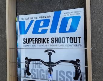 Sunday Velo Works (Magazine/Book Rack Wall Mount-Natural Finish)