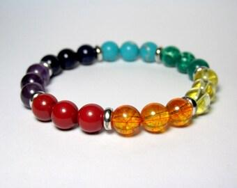 Chakra Bracelet, 7 Chakra Bracelet, Balance Bracelet, Energy Bracelet, Mala Bracelet, Reiki Bracelet, Yoga Bracelet, Beaded Bracelet