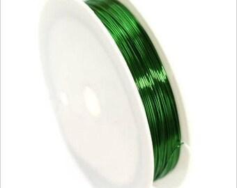 0,4mm copper wire / coil 10 m Green