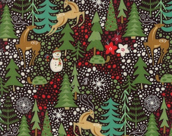 Berry Merry by Basic Grey for Moda Fabrics, Christmas fabric, Charcoal, 3047017