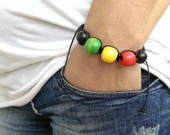 Mens Bracelet Perle Homme Men Bracelete Rasta 16 mm SANDALWOOD Ganja Bob Marley Bracelet Perle Homme Women Women Energy Healt Rasta Ganja