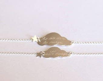 Small bracelet 925 Sterling Silver Star Cloud