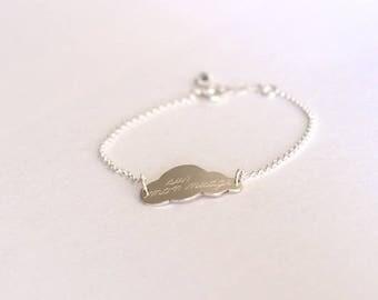 Bracelet 925 sterling silver cloud