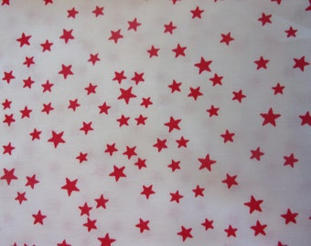 fabric 50 * 70 cm red and white stars