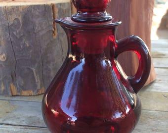 Ruby Red Avon 4oz Strawberry Decanter