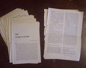 Vintage Book Pages*Set of 25*Journal supply*Scrapbook Supply*Old Book Pages*Journal Ephemera*Junk Journal Paper*Paper Ephemera