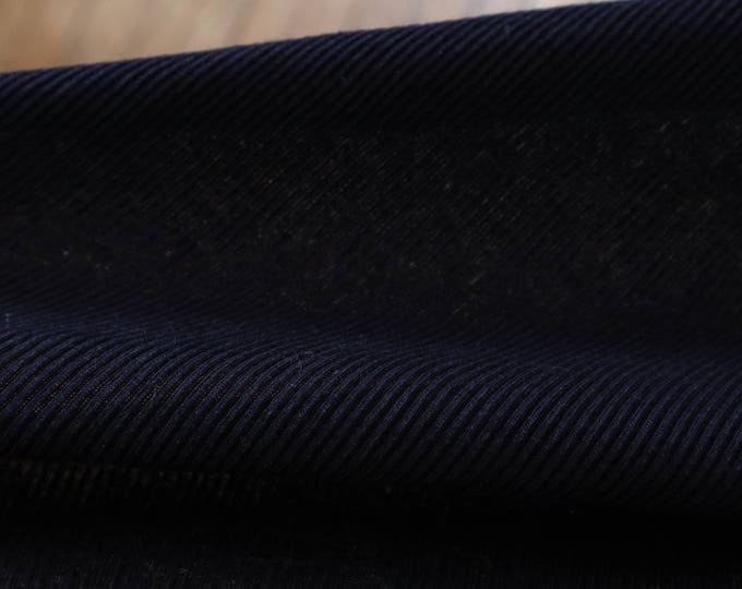 Navy Rib Knit