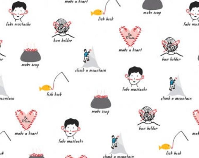 Leftover Candycanes- Christmas Darlings- Dear Stella Fabrics