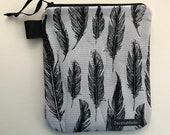 Small Feather Zip Pouch