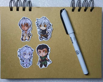 Elvarra - Chibi Sticker Set