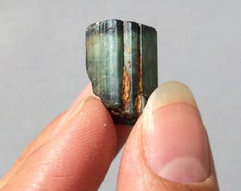 Tourmaline Green Bicolored Pale Blue Cap Healing Crystal Rocks and Minerals Mineral Specimen Wire Wrap Jewelry Supply Brazil