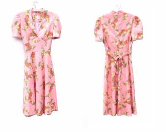 Vintage 60's Empire Dress - Floral